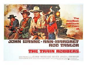 The Train Robbers, Rod Taylor, Ben Johnson, John Wayne, Ann-Margret, 1973