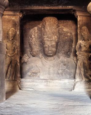 The Trimurti at the Temple of Shiva, Elephanta