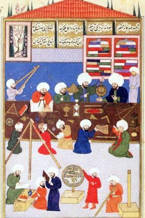 The Turkish Astronomer Takiuddin at His Observatory at Galata, Istanbul, 1581