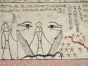 The Two Mystical Eyes, from the Tomb of Tuthmosis III (circa 1504-1450 BC) New Kingdom (Mural)