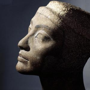 The Unfinished Head of Queen Nefertiti, Wife of Akhenaton