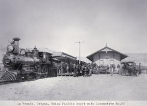 The Union Pacific Railroad Depot at La Grande, Oregon, c.1870