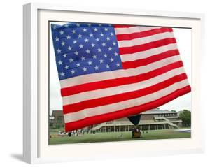 The United States Flag Hot Air Balloon is Inflated at Stevens Institute of Technology