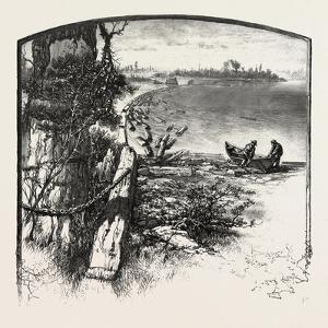 The Upper Ottawa, Timber Boom, Fitzroy Harbour, Canada, Nineteenth Century