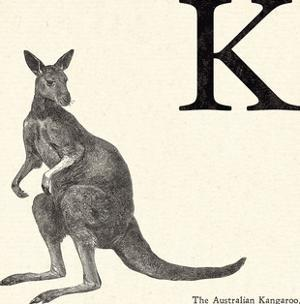 Animal Alphabet - K by The Vintage Collection