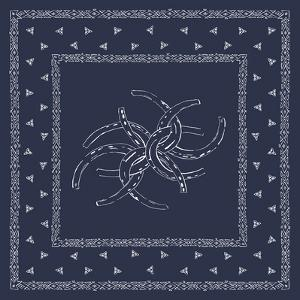 Bandana Pattern - Horseshoes by The Vintage Collection
