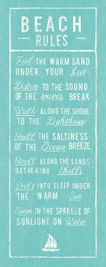 Beach Rules - Aqua by The Vintage Collection