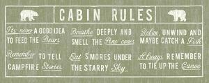 Cabin Rules Panel by The Vintage Collection