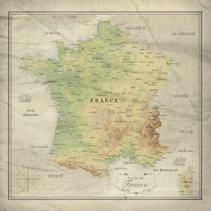 Carte de France by The Vintage Collection