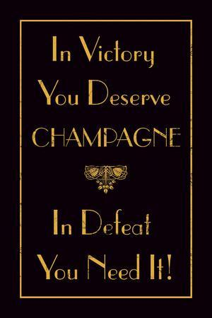 Champagne Victory