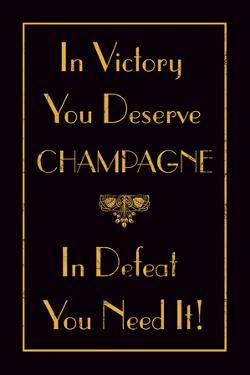 Champagne Victory by The Vintage Collection