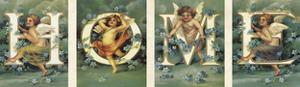 Cherub Typography II by The Vintage Collection