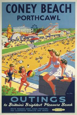 Coney Beach Porthcawl by The Vintage Collection