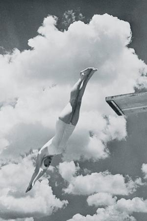 Diving Girl by The Vintage Collection