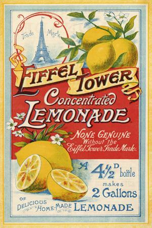 Eiffel Tower Concentrated Lemonade, 1900 by The Vintage Collection