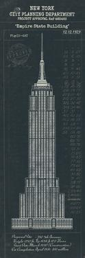 Empire State Building Plan by The Vintage Collection