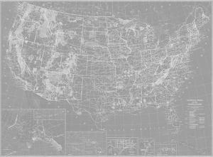 Explorer - USA Map - Graphite by The Vintage Collection