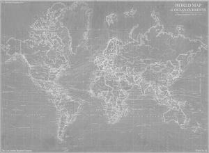 Explorer - World Map - Graphite by The Vintage Collection