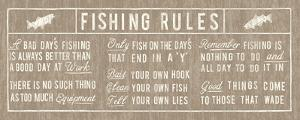 Fishing Rules Panel by The Vintage Collection