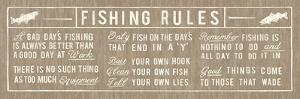 Fishing Rules Panelled by The Vintage Collection