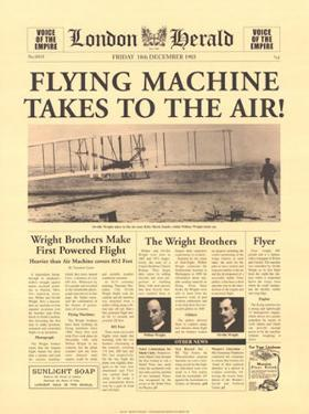 Flying Machine Takes to The Air by The Vintage Collection