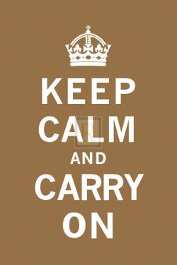 Keep Calm and Carry On by The Vintage Collection