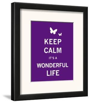 Keep Calm It's a Wonderful Life by The Vintage Collection