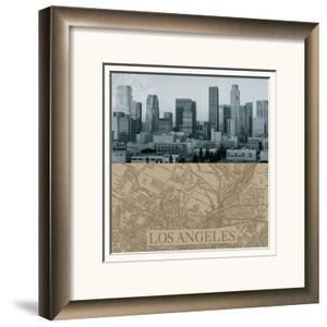 LA Map I by The Vintage Collection
