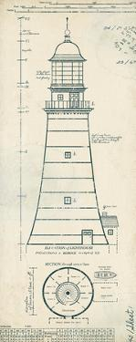 Lighthouse Plans II by The Vintage Collection