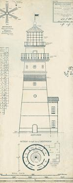 Lighthouse Plans III by The Vintage Collection