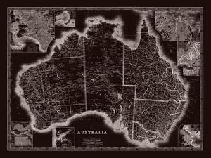 Map of Australia by The Vintage Collection