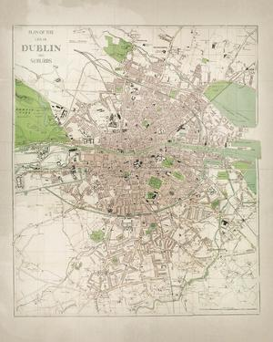 Map of Dublin by The Vintage Collection