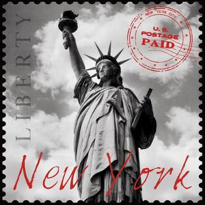 New York Stamp by The Vintage Collection