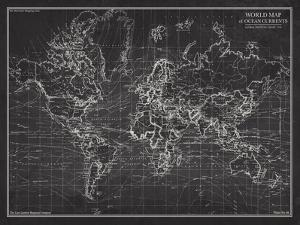 Nautical maps posters for sale at allposters ocean current map global shipping chart gumiabroncs Images