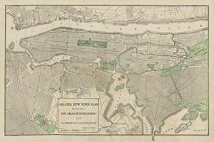Plan of New York by The Vintage Collection