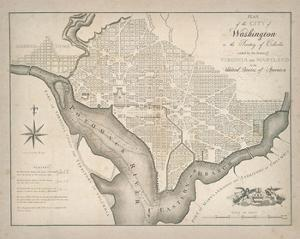 Plan of Washington by The Vintage Collection