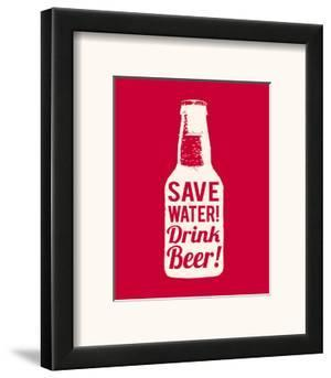 Save Water Drink Beer by The Vintage Collection