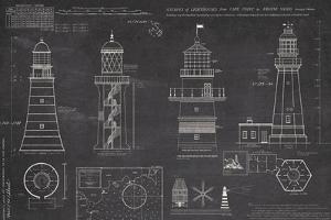 Survey of Lighthouses by The Vintage Collection