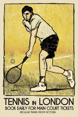 Tennis in London by The Vintage Collection
