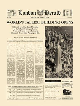 The Worlds' Tallest Building Opens by The Vintage Collection