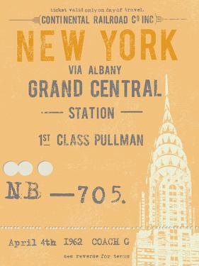 Ticket to New York by The Vintage Collection