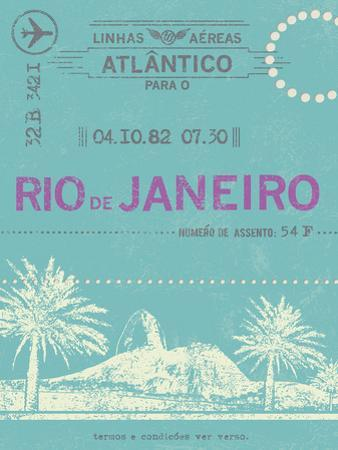Ticket to Rio de Janeiro by The Vintage Collection