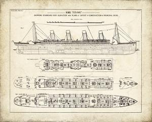 Titanic Blueprint Vintage I by The Vintage Collection