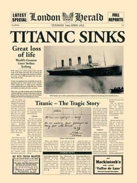 Titanic Sinks by The Vintage Collection