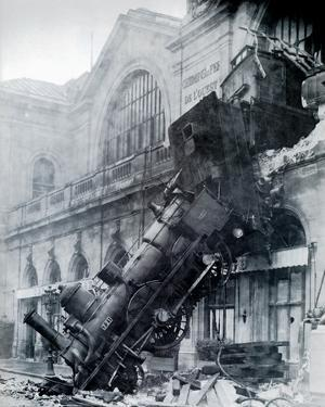 Train Wreck at Montparnasse, Paris, France 1895 by The Vintage Collection
