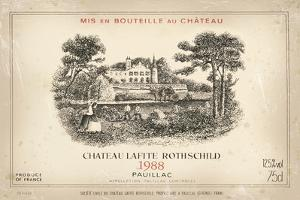 Wine Label II by The Vintage Collection