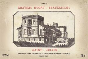 Wine Label III by The Vintage Collection