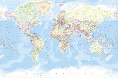 World Map by The Vintage Collection