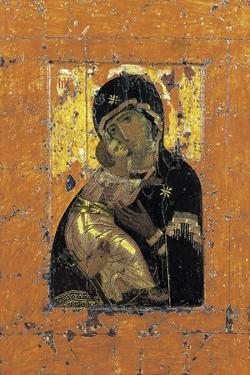 The Virgin of Vladimir, Byzantine Icon, Early 12th Century