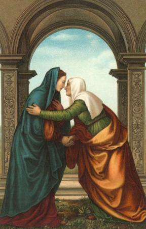 The Visitation by Albertinelli, Florence